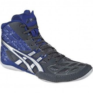 J203Y Asics Split Second 9 Mens Wrestling Shoe Graphite/Silve​r Blue