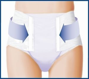 Adult Diaper Briefs Tena Classic Plus / Ultra Travel Pack of 2
