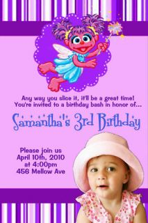 personalized abby cadabby photo birthday invitation  12
