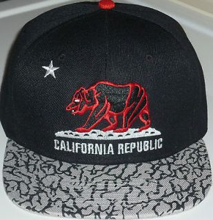 California Republic Snapback Jordan 3 Chicago Bulls Colors Cement Hat