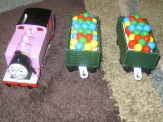 Thomas Tank Engine Trackmaster 3 Piece ROSIE BALLOONS Very Good Used