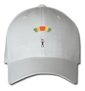 SKYDIVER AIRCRAFT SPORTS SPORT EMBROIDERED EMBROIDERY HAT CAP