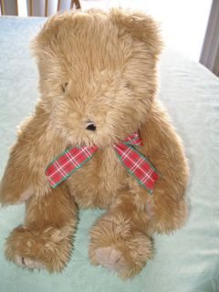 TY BEANIE BABY SCRUFFY JOINTED BROWN TEDDY BEAR 1989 16 TALL LARGE