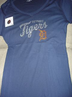 mlb detroit tigers tee shirt with bling