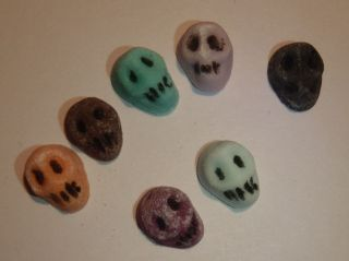 12 x Tiny Mexican Sugar Skulls   Edible Cupcake Topper / Cake