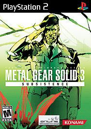 metal gear solid 3 subsistence for ps2