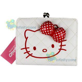NEW Hello Kitty Leatherette Wallet Card Holder Purse Bag White #E
