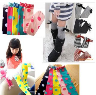 New Kids Toddlers Girls Soft Knee High School Socks 2 8Y Tights