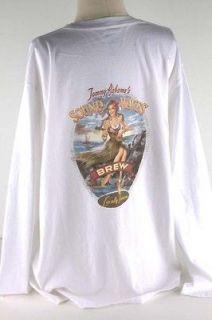 tommy bahama white sound waves long tee shirt men 3717
