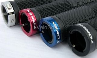 bn token lock on mtb grips black silver gold red