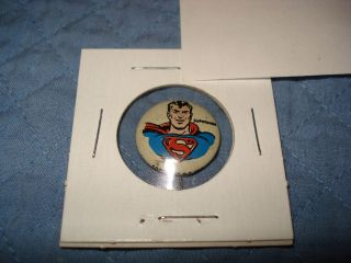 superman kellogg pep pin circa 1940 s