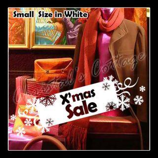 Christmas Sale Sign Tab Snow Snowflake Shop Window Wall Art
