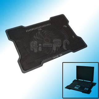 One Fan Cooling Cooler Pad Stand for 17 inch Notebook Laptop PC Black