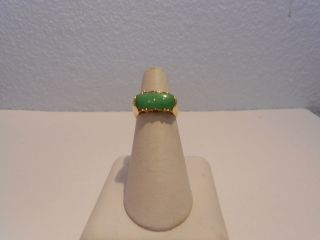 jade saddle ring 18kt gold time left $ 790 00