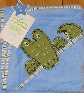 Blue Hoody Towel Green Alligator Crocodile Hooded Bath Towel Velour