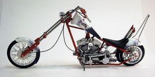 Braves MLB Team 110 Scale Diecast OCC Custom Rigid Chopper Motorcycle