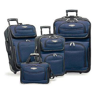 traveler s choice amsterdam 4 piece luggage set navy  89 99