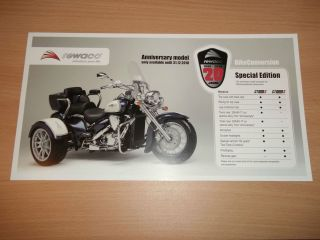 Trike Brochure. Rewaco CT800S & CT1800S 2010 Anniversary Edition Bike