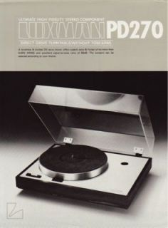 luxman pd270 turntable brochure from 1970s  17
