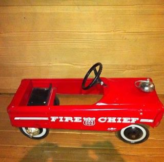 Vintage Fire Chief Pedal Car AMF 503 Antique Childrens Toy