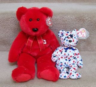 BUDDY CANADIAN EXCLUSIVE & USA EXCLUSIVE RED,WHITE & BLUE BEANIE BABY