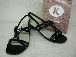 by clarks strata star black patent leather sandals more