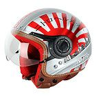 AV JAPAN OPEN FACE COUNTRY MOTORBIKE MOTORCYCLE SCOOTER CRASH HELMET