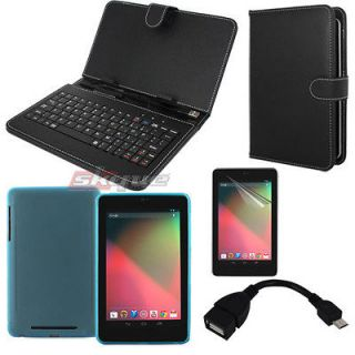 newly listed 4 accessory leather case usb keyboard otg adapter