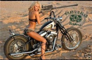 bobber chopper big dog motorcycle girl banner sign flag 4