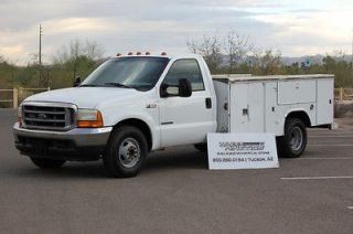 MONEY BACK GUARANTEE 2001 Ford F350 Utility Bed Diesel DRW Dually 7