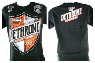 dethrone royalty team shield authentic black t shirt new