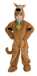 Child Boys Girls Deluxe Scooby Doo Plush Halloween Costume, Small