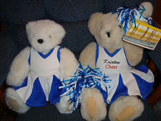 Newly listed 2 VT VERMONT TEDDY BEAR COMPANY CHEERLEADER blue white