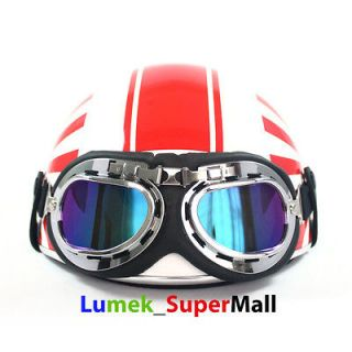 Japan Flag Open Face Half Helmet Motorcycle Motor Bike Scooter DOT