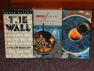 Lot of 3 Pink Floyd VHS Tapes Pulse Delicate Sound Of Thunder