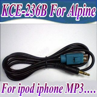 5mm aux input adapter interface cable alpine kce 236b