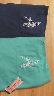Vineyard Vines Mens Sportfisher Pocket T Shirt   Green, Navy
