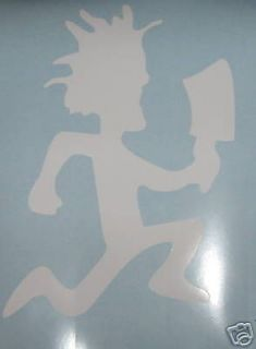 large white hatchetman decal sticker icp joker time left $