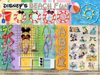 digital scrapbooking kit disney s summer beach fun cute time