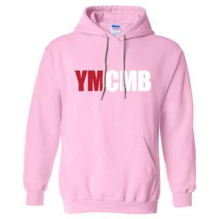 YMCMB HOODIE YOUNG MONEY WEEZY WAYNE SWEAT SHIRT LIL HIP HOP RAP *PINK