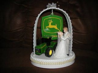 new john deere wedding cake topper with wedding couple time
