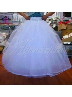 White 4 Layer Tulle Wedding Dress Ball Gown Crinoline Petticoat