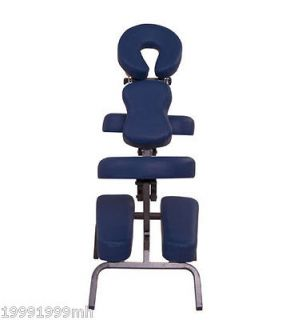 Newly listed Blue Portable Massage Chair PU Leather w/ Carry Bag Blue