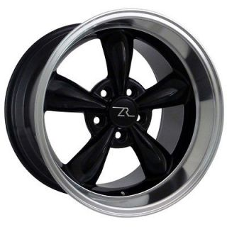 Deep Dish Mustang Black Bullitt Wheels 17x9 & 10.5 fits 1994 `04