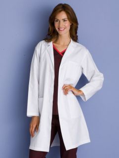 Dickies Medical Uniforms 72103 39 MEDIUM Unisex WHITE Twill Lab Coat
