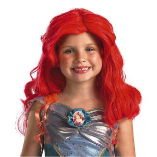 child kids disney the little mermaid ariel hair wig