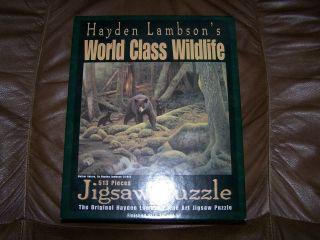 Hayden Lambson Wildlife Jigsaw Puzzle 513 Pieces   USED