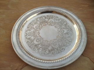 WILLIAM (W.M) ROGERS #162 SILVER PLATE SERVING PLATTER EAGLE/STAR c