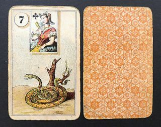 Antique Vintage Lenormand Fortune Telling Oracle Cards Deck