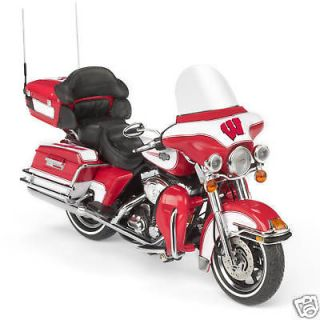 Wisconsin Badgers Diecast Harley Davidson Diecast Motorcycle 112 NEW